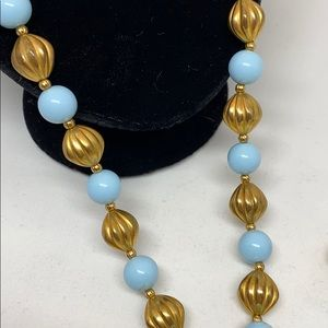 Jewelry - SALE! Vintage necklace with blue lucite beads